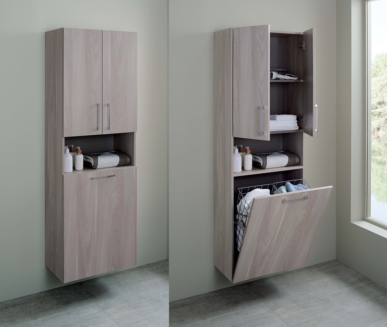 side cabinet baila range lacquered bathroom furniture sanijura 26114