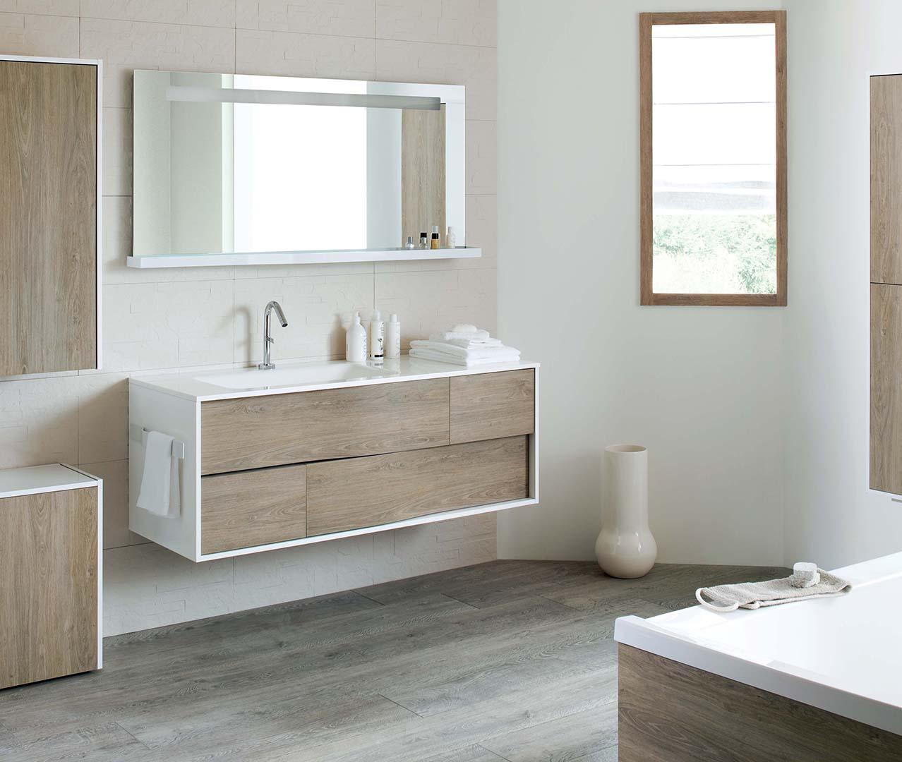 My lodge range wooden bathroom furniture sanijura for Bathroom furniture quebec